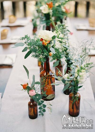 创意婚礼现场布置桌饰 浪漫无限暖意满满